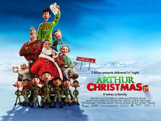 ARTHUR CHRISTMAS Family Movie Review
