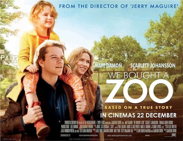 WE BOUGHT A ZOO Family Movie Review