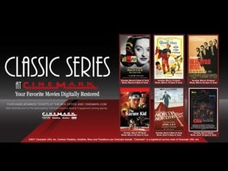 CINEMARK CLASSIC SERIES Brings Your Favorites Back to Theaters