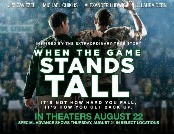 WHEN THE GAME STANDS TALL Family Movie Review